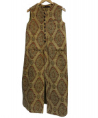 muller of yoshiokubo(ミュラーオブヨシオクボ)の古着「ベストドレス」|ブラウン