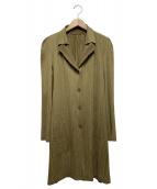 PLEATS PLEASE(プリーツプリーズ)の古着「プリーツジャケット」|ブラウン