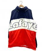 Lafayette(ラファイエット)の古着「ロゴクラシックナイロンアノラックジャケット」|ネイビー
