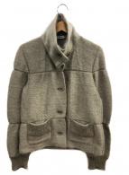 ISSEY MIYAKE(イッセイミヤケ)の古着「モヘア混ジャケット」|グレー