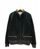 KOLOR(カラー)の古着「ベロアジャケット」 グリーン