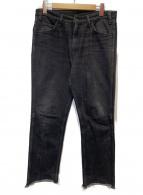 UNUSED(アンユーズド)の古着「13.5オンスデニム5ポケットパンツ」|ブラック