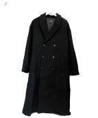 HARE(ハレ)の古着「ダブルチェスターコート」|ブラック