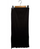 PLEATS PLEASE(プリーツプリーズ)の古着「プリーツスカート」 ブラウン