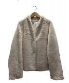 VIVIENNE TAM(ヴィヴィアン・タム)の古着「FAUX FURコート」|アイボリー
