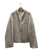 VIVIENNE TAM(ヴィヴィアンタム)の古着「FAUX FURコート」|アイボリー