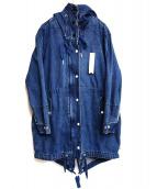 SCOTCH & SODA(スコッチアンドソーダ)の古着「デニムモッズコート」|インディゴ