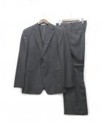 ARMANI COLLEZIONI()の古着「ストライプ2Bスーツ」|ブラック