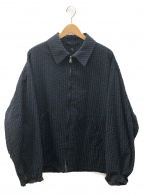 KAPTAIN SUNSHINE(キャプテンサンシャイン)の古着「シアサッカージップアップジャケット」|ネイビー