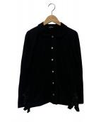 tricot COMME des GARCONS(トリコ コムデギャルソン)の古着「フリルカットソーカーディガン」|ブラック