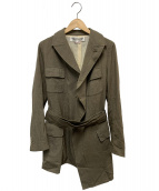 COMME des GARCONS COMME des GARCONS(コムデギャルソンコムデギャルソン)の古着「デザインジャケット」|グレー