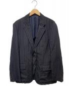 COMME des GARCONS HOMME(コムデギャルソンオム)の古着「ストライプジャケット」|ネイビー