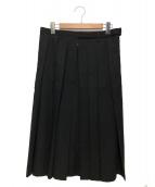 Yohji Yamamoto pour homme(ヨウジヤマモトプールオム)の古着「ギャバウールラップスカート」|ブラック