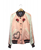 COACH(コーチ)の古着「リバーシブルサテンジャケット」|ピンク