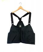 MOUNTAIN RESEARCH(マウンテンリサーチ)の古着「Flower Carrier Half Vest」|ブラック