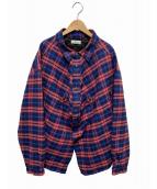 BALENCIAGA(バレンシアガ)の古着「スウィングカナディアンシャツ」|レッド