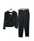 BALLSEY(ボールジィ)の古着「コンパクトストレッチノーカラーセットアップ」|ブラック