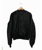 SSS WORLD CORP(トリプルエス ワールドコープ)の古着「ボンバージャケット」|ブラック