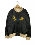 WEIRDO(ウィアード)の古着「スカルアンドスネークジャケット」|ブラック×ホワイト