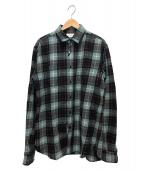 Saint Laurent Paris(サンローランパリ)の古着「チェックシャツ」|ブルー