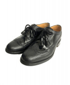 SANDERS(サンダース)の古着「LONG WING TIPS LEATHER SHOES」|ブラック