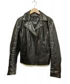DIESEL(ディーゼル)の古着「ライダースレザージャケット」|ブラック
