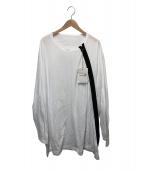GROUND Y(グラウンドワイ)の古着「オーバーサイズシャツ」|ホワイト