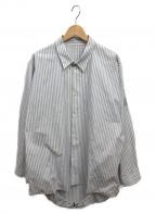 Essay(エッセイ)の古着「ストライプシャツ」 グレー