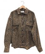PRIMALCODE(プライマルコード)の古着「レオパードシャツ」 ベージュ