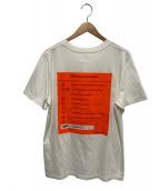 MM6(エムエムシックス)の古着「バッグプリントロゴTシャツ」|ホワイト