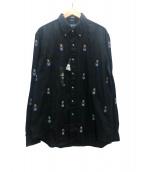 RALPH LAUREN(ラルフローレン)の古着「ポロベアシャモスボタンダウンシャツ」|ブラック