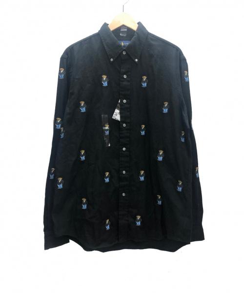 RALPH LAUREN(ラルフローレン)RALPH LAUREN (ラルフローレン) ポロベアシャモスボタンダウンシャツ ブラック サイズ:L 未使用品 POLO BEAR Chamois B.D. Shirtsの古着・服飾アイテム