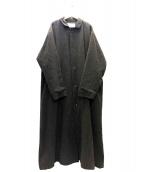 HARVESTY(ハーベスティー)の古着「ウールサージオーバーコート」|ブラウン