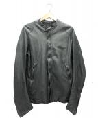 sisii(シシ)の古着「シングルレザージャケット」|ブラック