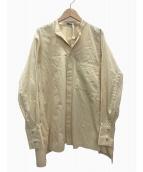 NEHERA(ネヘラ)の古着「バンドカラーシャツ」 ベージュ