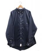 DESCENDANT(ディセンダント)の古着「ケネディーズボタンダウンL/Sシャツ」|ネイビー
