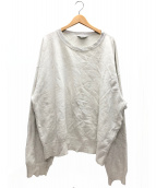 UNUSED(アンユーズド)の古着「カットオフオーバーサイズP/Oスウェット」|グレー