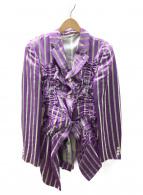 COMME des GARCONS HommePlus(コムデギャルソンオムプリュス)の古着「デザインジャケット」|パープル