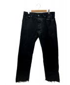 Martin Margiela 10(マルタンマルジェラ10)の古着「ブラックデニムパンツ」|ブラック