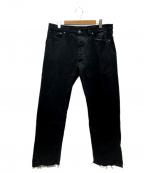 Martin Margiela 10(マルタンマルジェラ 10)の古着「ブラックデニムパンツ」|ブラック