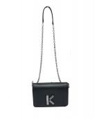 KENZO(ケンゾー)の古着「チェーンショルダーバッグ」|ブラック