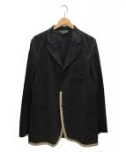 COMME des GARCONS HommePlus(コムデギャルソンオムプリュス)の古着「パイピングジャケット」|ブラック