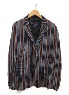 COMME des GARCONS HOMME(コムデギャルソンオム)の古着「ストライプジャケット」 マルチカラー