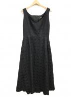 COMME des GARCONS(コムデギャルソン)の古着「ポリ縮ロゴワンピース」|ブラック