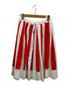 COMME des GARCONS GIRL(コムデギャルソン ガール)の古着「ストライプスカート」|レッド×ホワイト