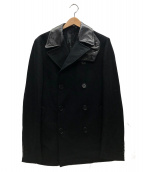 HELMUT LANG(ヘルムートラング)の古着「襟切替Pコート」|ブラック