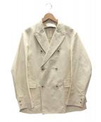 PHIGVEL MAKERS(フィグベルマーカーズ)の古着「ダブルテーラードジャケット」|アイボリー