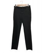 COMME des GARCONS HommePlus(コムデギャルソンオムプリュス)の古着「ポリ縮ストレートパンツ」|ブラック