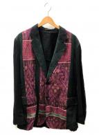 YohjiYamamoto pour homme(ヨウジヤマモトプールオム)の古着「ジャケット」|ブラック×レッド