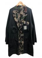 YohjiYamamoto pour homme(ヨウジヤマモトプールオム)の古着「ギャバジンカモフラージュリバーシブルコート」|カーキ